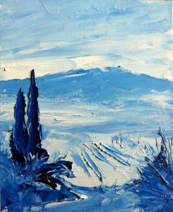 Bleu Ventoux  54x40