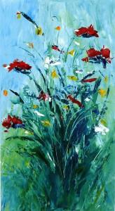 Bouquet bleu 54x38