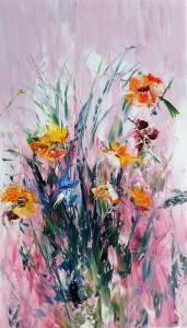 Bouquet rose 54x38