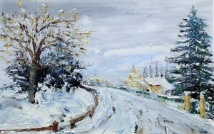 Chemin de neige 54x38